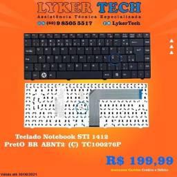 Teclado Notebook STI 1412 Preto BR abnt2 (Ç) TC100276P