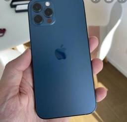 iPhone 12 pro Max 128 gb cor azul pacífico aparelhos lacrado com nota fiscal