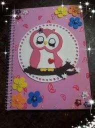 Caderno decorado