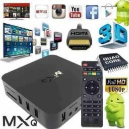 Tv box 4k + 2k versão android 7.1 já vai configurado C/ Tv