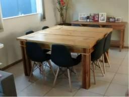 Conjunto Sala Jantar mesa com aparador R$ 2.100,00