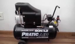Compressor de ar baixa pressão 8,2 pés 25 litros monofásico - csa8,2/25 - pratic air (220V
