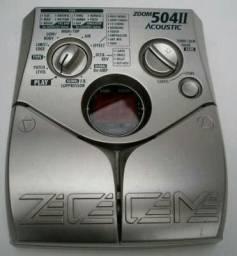 Pedaleira zoom 504 II acoustic