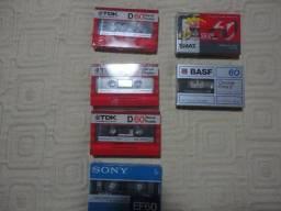 9 fitas K7 vigem TDK, Basf, Sony ,Smat de 60 raridade