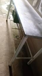Mesa inox 2 metros e meio conservada
