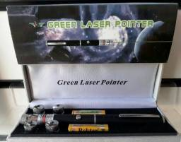 Promoção Laser Pointer Verde Lanterna 10.000mw Até 9km 5 Pontas