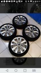 Rodas 18 de sonata rodas zero com pneus novos