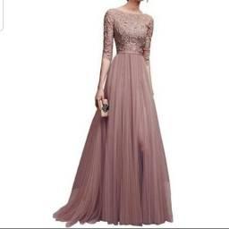 Vendo vestido longo de festa NOVO sem uso