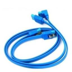 Kit com 2 cabos Sata 3 6Gbps Gigabyte PN: 12CF1-2SAT01-01R 45cm Azul