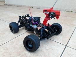 Automodelo Truggy Combustão Nitro 1/10 Revisado