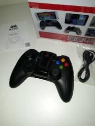 Controle de Jogo p/ Celular Bluetooth Android iOS Gamepad Knup KP-4030