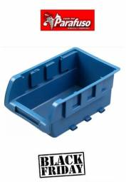 Caixa bin gaveta Plástica Azul