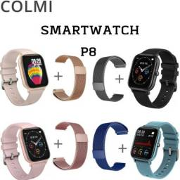 Smartwatch COLMI P8  estilo AMAZFIT GTS+pulseira milanêse grátis!