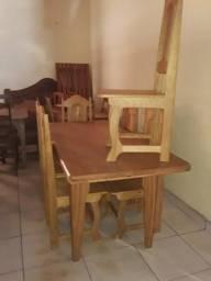 Mesa com 6 cadeiras 1700.00