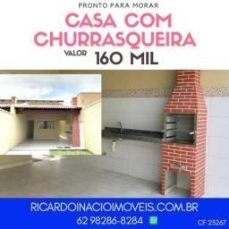 Casa com Churrasqueira pronta para Morar!