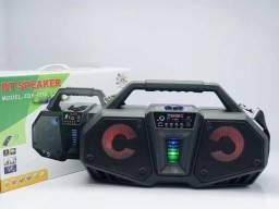 Caixa De Som Amplificada GRASEP Com Controle e Microfone Bluetooth Fm Alta Qualidade