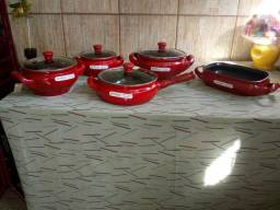 Jogo de Panelas de cerâmica
