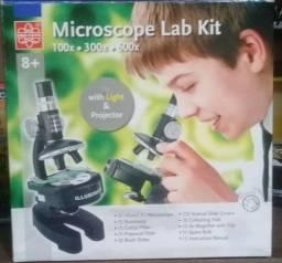 Microscópio Monocular Até 600 Vezes Acadêmico Escolar + Kit