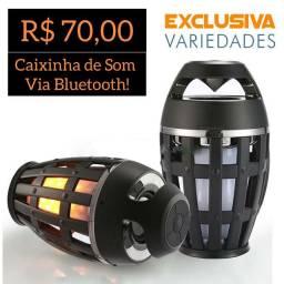 Caixinha De Som Via Bluetooth Flame + Entrega Grátis
