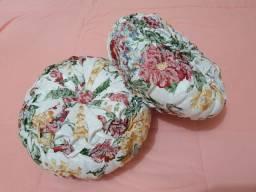 Almofadas com eatampa de flores enchimento fibra de silicone