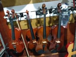 Violino 4/4 ou 3/4 com case e arco troco ou parcelo