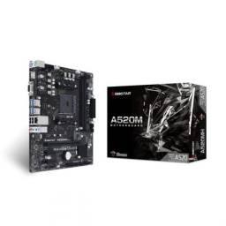 Placa Mae Biostar A520mh ddr4 socket AM4 m.2 chipset amd a520