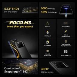 Oportunidade: Xiaomi Poco M3 4GB+64GB Versão Global (Power Black)