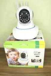 Câmera Via Wfi com 3 Antenas na Promoção do Dia