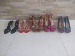 Sandálias de salto. 35 e 36