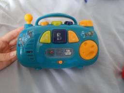brinquedo caixinha de som do peixonauta