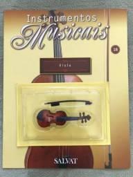 Título do anúncio: Instrumento da Salvat nº 18 Viola em Miniatura