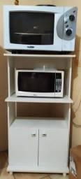 Microondas + Fogão + Fritadeira + Rack