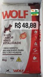 Título do anúncio: Ração wofl filhte 8 kg 48,00 whatsapp