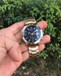 Título do anúncio: Relógio masculino nibosi,dourado