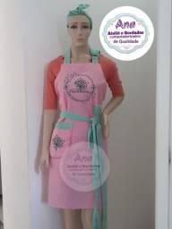 Kit avental e toucas personalizado LEIA A DESCRIÇÃO