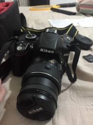 Máquina Fotográfica - Nikon D-3300 semi-profissional