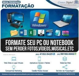 Formatação Computador - Assistência técnica em Notebook e Desktop