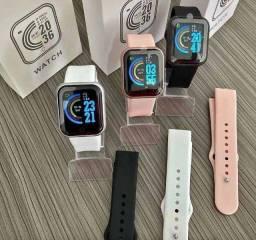Smartwatch Y68 + 2 Pulseiras Grátis