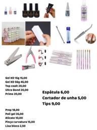 Diversos produtos para manicure