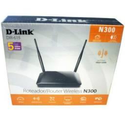 Roteador e Repetidor Wi-Fi Wireless 2 Antenas D-Link DIR-615  300Mbps 5 portas