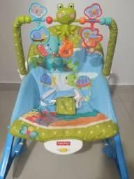 Cadeira Fisher- Price 4 em 1 : vibra, toca, reclina e balança