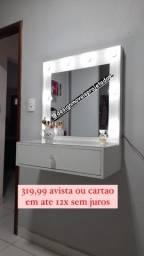 12X SEM JUROS, Penteadeiras, Espelho Camarim 100% MDF Acabamento Francês
