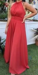 Título do anúncio: Vestido de festa 42 cor: Terracota