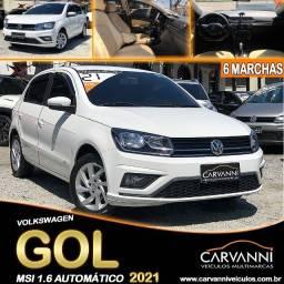 Título do anúncio: Volkswagen Gol MSI 1.6 Turbo 2021 Automático com 6 Marchas