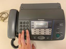 Aparelho FAX, telefone fixo, secretária eletrônica