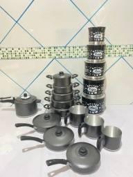 Título do anúncio: Kit de panelas de alumínio grossas