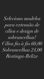 Título do anúncio: Extensão de cílios e design de sobrancelhas