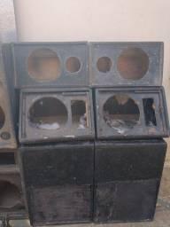 Lote de gabinetes de som