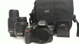 Câmera Nikon D3100 + Lentes - De 2.400,00 por 2.000,00