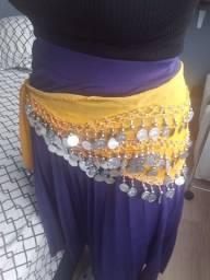 Dança do ventre: saia tamanho único